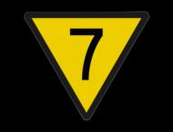 Snelheidsverminderingsbord - RS 313 - 1 getal - Reflecterend