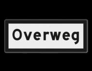 Snelheidsbord Overweg - RS 324 - 500x200mm - Reflecterend