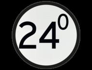 Bord Aankondiging overweg - RS 318a - Ø600mm - Lager dan 100