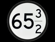 Bord Aankondiging overweg 2 nrs - RS 318b - Ø600mm - Lager dan 100