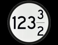 Bord Aankondiging overweg 2 nrs - RS 318b - Ø600mm - 100 of hoger