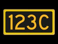 Seinnummerbord codewisselsein - RS - 400x200mm - Reflecterend