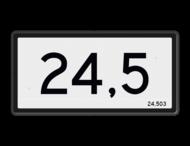 Hectometerbord Nieuwe stijl - RS - 600x300mm - Reflecterend