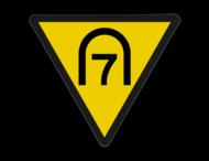 Entreesnelheidsverminderingsbord - RS 286 - Reflecterend