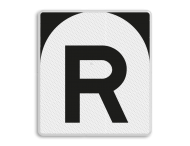 'R'-bord - RS 302 - 650x720mm - Reflecterend