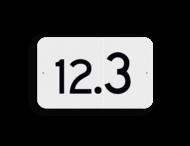 Hectometerbord vlak schouwpad km 10 t/m 19 - RS - 330x200mm - Reflecterend