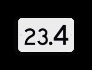 Hectometerbord vlak schouwpad km 20 t/m 99 - RS - 330x200mm - Reflecterend