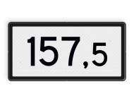 Kilometerbord (Halve) 100,5 en hoger - bovenleidingportaal - RS - 600x300mm - Reflecterend