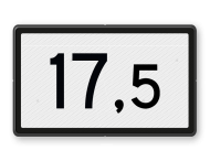 Kilometerbord (Halve) 10,5 t/m 19,5 - bovenleidingportaal - RS - 500x300mm - Reflecterend