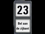 Huisnummerpaal met BORD Modern met tekst