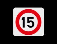 Terreinbordje maximum snelheid 15km 119x109mm
