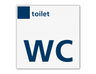 Bord services toilet/WC - Reflecterend