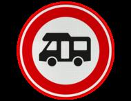 Verkeersbord RVV C06b - Verboden voor campers