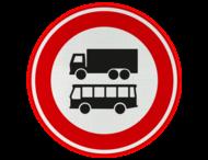 Verkeersbord RVV C07b - Gesloten voor vrachtauto's en bussen