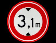 Verkeersteken RVV C19 - met vrij invoerbare opdruk
