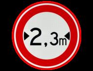 Verkeersbord RVV C18 - Gesloten voor te brede voertuigen