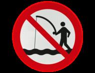 Verkeersbord - Verboden te vissen