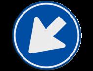 Verkeersbord RVV D02l - Gebod links te passeren
