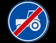 Verkeersbord RVV F12 - Einde passeerstrook langzaam verkeer
