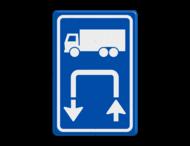Inritbord BT15bl - vrachtwagens linksom