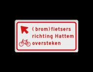 Verkeersbord RVV BW09lb - (brom)fietsers richting plaats oversteken
