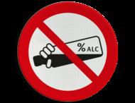 Verkeersbord - Verboden alcohol te drinken