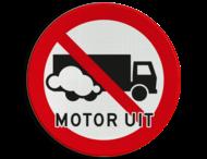 Verkeersbord Motor uitschakelen - Vrachtwagen