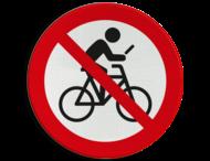 Verkeersbord - Niet appen op de fiets