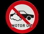 Verkeersbord Motor uitschakelen - Auto