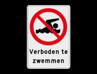 Verkeersbord - Verboden te zwemmen