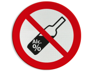 Verbodsbord - Alcohol verboden