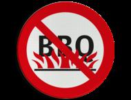 Verbodsbord - BBQ'en verboden