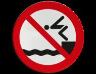 Verbodsbord - Duiken verboden