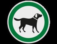 Pictogram - loslopende honden toegestaan