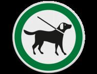 Verkeersbord Aangelijnde honden toegestaan
