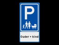 Verkeersbord E08r parkeerplaats voor gezinnen