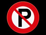 informatiebord - Parkeren verboden
