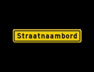 Straatnaambord geel 14 karakters 800x150mm