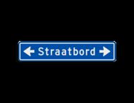 Straatnaambord 14 karakters 1000x200 mm met pijl NEN 1772