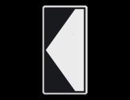 Scheepvaartbord BPR F. 2a links - smal- Richtingaanduiding met zijborden