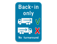 Informatiebord - Back-in only