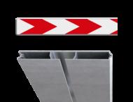 Schrikhekplank RVV BB18-1 Verzwaard profiel pijlmotief, 1 richting