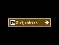 Verwijsbord KOKER Bruin/wit/zwart - pijl rechts, met 1 pictogram - Klasse 3 reflecterend