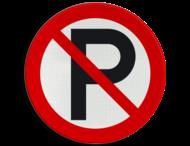 Verkeersbord - P-verboden (onofficieel)