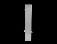 Grondstuk staal 80x80mm - 500mm - voor parkeer- en afzetpalen uitneembaar