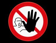 Verbodsbord - Verboden toegang voor onbevoegden