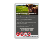 Informatiebord Kinderboerderij + full colour opdruk