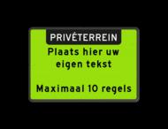 Tekstbord landscape 3:2 met banner - GEEL/GROEN FLUORESCEREND