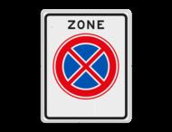 Verkeersbord RVV E02zb - ZONE Verbod stil te staan