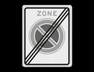 Verkeersbord RVV E02ze - einde zone verboden stil te staan
